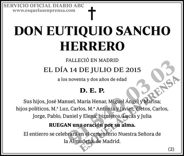 Eutiquio Sancho Herrero